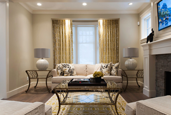 Decorating Tips - living room with fireplace