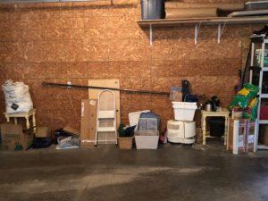 renovation preparation - storage area