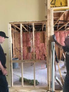 renovator - in progress renovation walls exposed