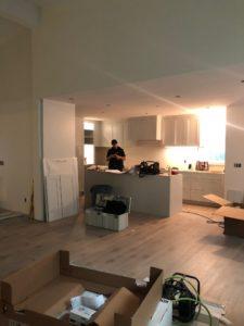 renovator - in progress renovation with boxes around