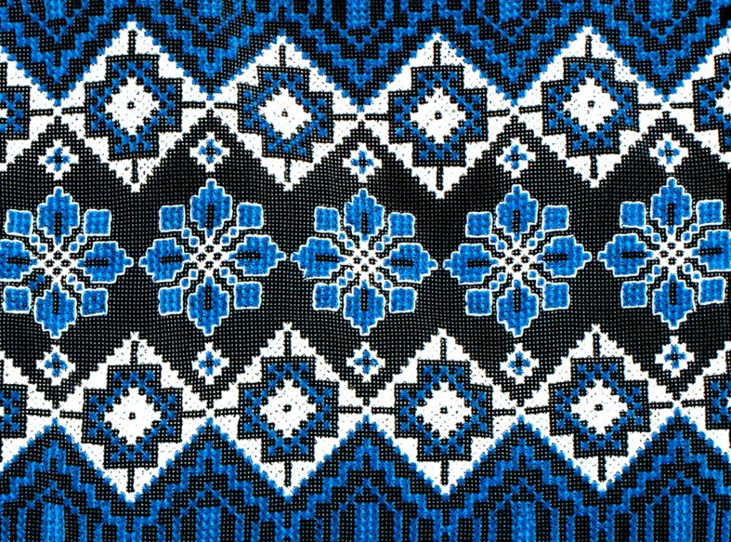 Scandinavian Design - Blue Textile Pattern